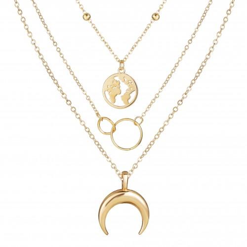 Arihant Glitzy Global Cross Ring Design Gold Plate...