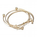 Arihant Adorable Star Moon Note Design Gold Plated Stylish Cuff Bracelet For Women/Girls 49010