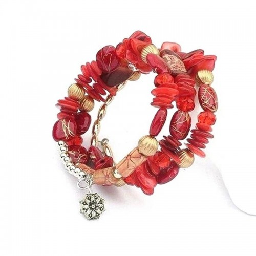 Arihant Red & Gold-Toned Copper-Plated Stone-S...