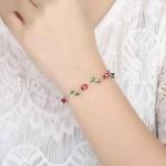 Arihant Elegant Crystal Leaf Rose Gold Swanky Charm Bracelet For Women/Girls