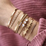Arihant Bangles Set of 7 Gold Plated Boho Bracelets