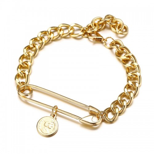 Arihant Jewellery For Women Gold Plated Chain Brac...