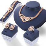 Arihant Gold-Toned Gold Plated Contemporary Jewellery Set 49512