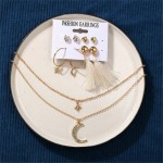 Arihant Bangles Wonderful AD Gold Plated Earrings with Necklace for Women/Girls