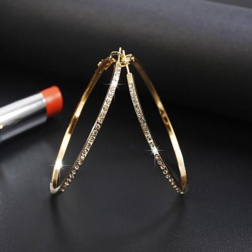 Arihant Delightful American Diamond Circular Hoop ...