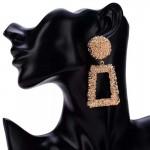 Arihant Rose Gold-Plated Geometrical Drop Earrings 45086