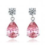 Arihant Adorable Crystal Teardrop Silver Plated Fascinating Earrings For Women/Girls