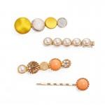 Arihant Trendy Pearl Hair Clips Jewellery For Women 6605