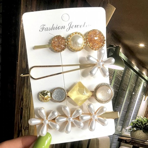 Arihant Flower Pearl Hair Clips Jewellery For Wome...