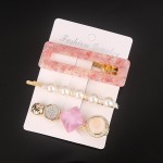 Arihant Stylish Pearl Gold Plated Hairclips for Women/Girls