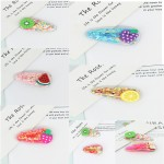 Arihant Sparkling Fruit Transparent Hairclip Jewellery for Kids/Girls