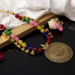 Arihant Multicolor Copper Plated Pearl Necklace Set 44001