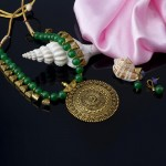 Arihant Green Copper Plated Pearl Necklace Set 44003