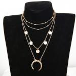Arihant Moon Triple Layered Fashion Necklace for Women/Girls 44085