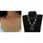 Arihant Trendy Moon Triple Layered Fashion Necklace For Women/Girls 44085
