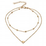 Arihant Elegant Heart Inspired Double Layered Fascinating Necklace for Women/Girls 44086