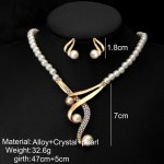 Arihant White & Gold-Toned Gold-Plated Pearl-Studded Necklace Set 44093
