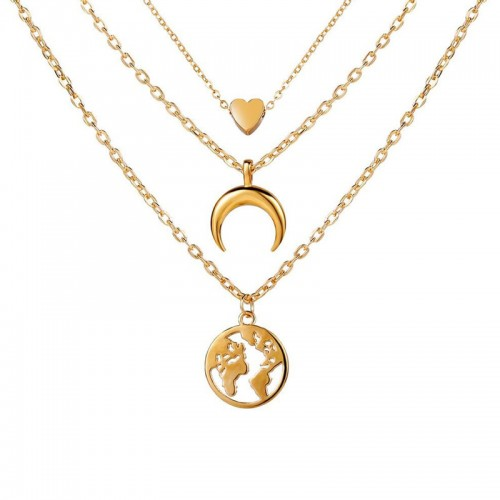 Arihant Gold Plated Trending Globe Inspired Layere...