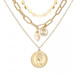 Arihant Gold Plated Trending Coin Inspired Layered Necklace Set (CT-NCK-44163) 44163