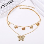 Arihant Bangles Gold Plated Butterfly Inspired Layered Necklace (CT-NCK-44165)