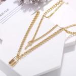 Arihant Stunning Gold Plated Lock Key Design Necklace for Women/Girls