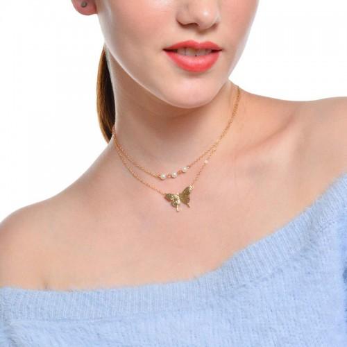Arihant Tantalizing Pearl Butterfly Gold Plated Mu...