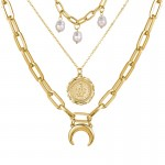 Arihant Gracious Beads Gold Plated Multi Strand Necklace For Women/Girls 44185
