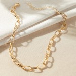 Arihant Glitzy Bold Chain Gold Plated Necklace For Women/Girls 44188