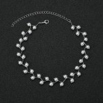 Arihant Pearl Single Layer Silver Plated Necklace Jewellery For Women 44227