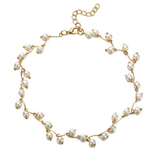 Arihant Pearl Single Layer Gold Plated Necklace Je...