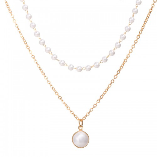Arihant Pearl Gold Plated Double Layer Necklace Je...