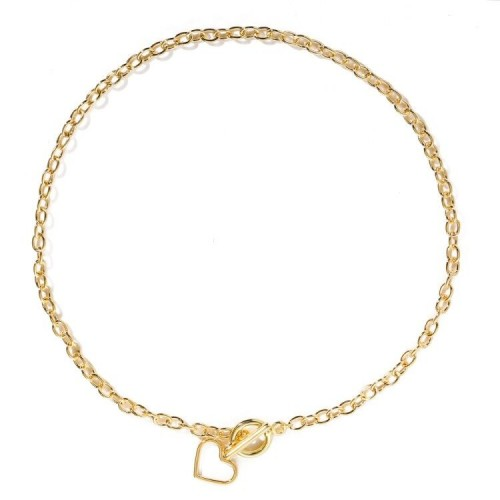 Arihant Heart Gold Plated Single Chain Necklace Je...