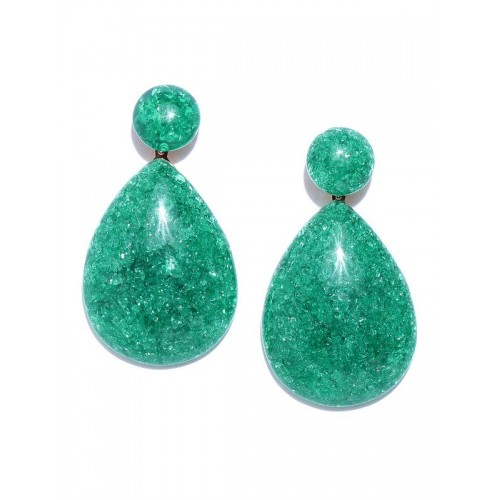 Arihant Green Gold-Plated Handcrafted Teardrop Sha...