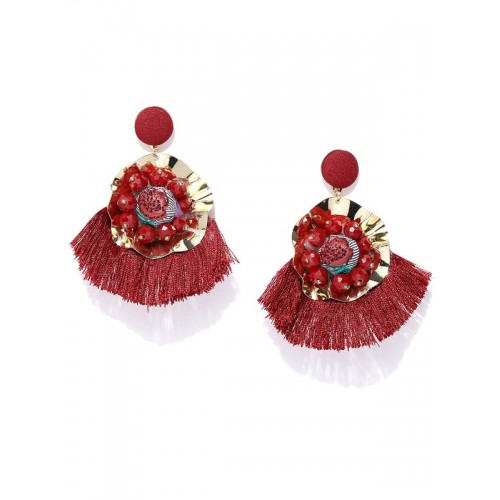 Arihant Red Gold-Plated Handcrafted Contemporary D...