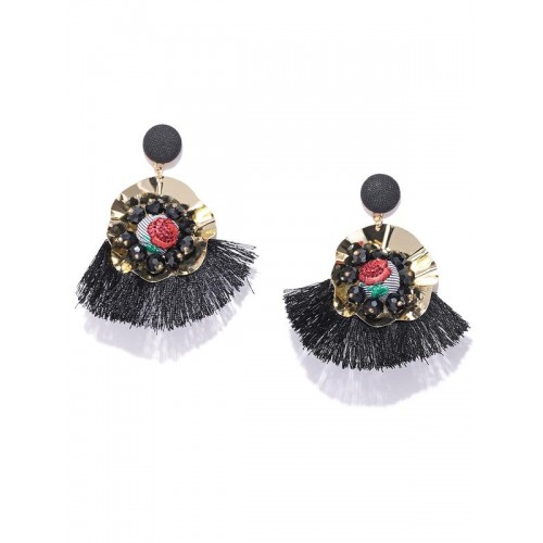 Arihant Black Gold-Plated Handcrafted Drop Earring...