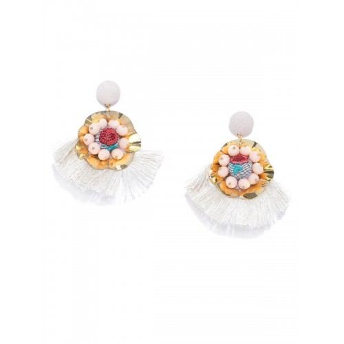 Arihant Off-White & Peach-Coloured Gold-Plated...