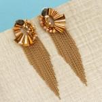 Arihant Beige Handcrafted Contemporary Tassel Earrings