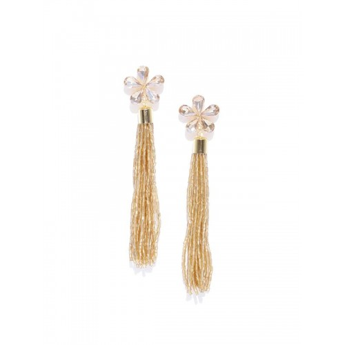 Gold-Plated Handcrafted Contemporary Drop Earrings