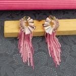 Arihant Lavender Handcrafted Tasselled Drop Earrings 35308
