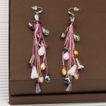 Arihant Pink Silver Plated Handcrafted Contemporary Drop Earrings
