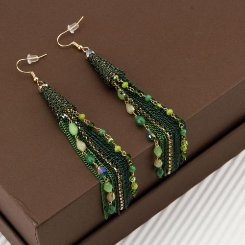 Arihant Green And Gold Toned Handcrafted Tasseled ...