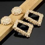 Arihant Gold Toned Gold-Plated Geometrical Drop Earrings