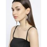 Gold Plated Designer Multicolor Chain Tassel Earrings