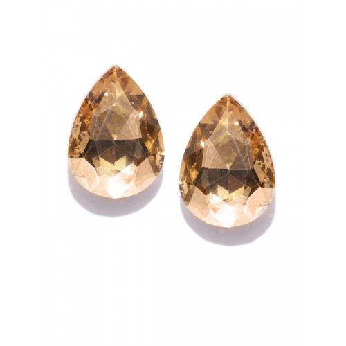 Gold-Plated Teardrop Shaped Studs