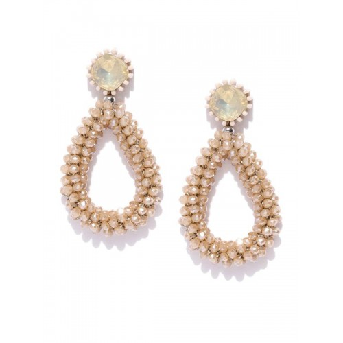 Arihant Beige Beaded & Stone-Studded Handcraft...