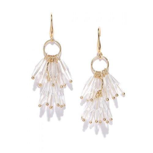 Gold Plated Translucent Beads Contemporary Earring...
