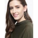 American Diamond Floral Dangler Earrings 1500