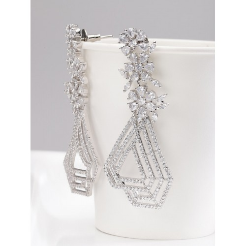 Arihant Designer Jewellery Silver-Toned Rhodium-Pl...