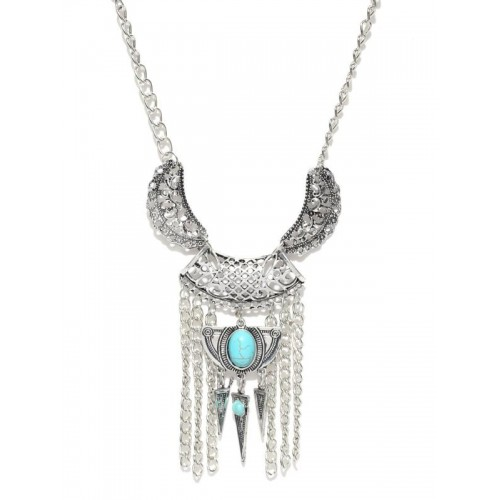 Platinum Plated Long Chain Statement Cleopatra Sty...