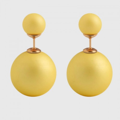 Arihant GP Yellow Glass Stud Earrings